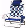 Cadeira De Praia Dobrável Nautica C Bolso Porta Copo Revista