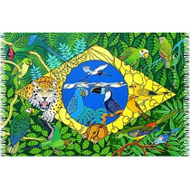 Canga De Praia Bandeira Do Brasil Estilizada/ Souvenir