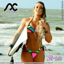Bikinis 3d Anna Carol Fio Dental Com Bojo Bac-5 Estampa 3d