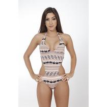 Maiô Feminino Body Estampado Engana Mamãe Lycra Verão 2016