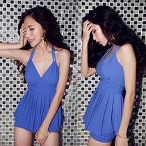 Biquine Short + Blusa Maiô Azul Preto Suquine Pronta Entrega