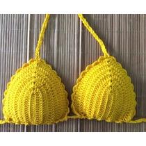 Biquini De Crochê Com Bojo (somente Parte De Cima)