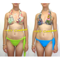 Biquíni Bikini Bojo Estampado Calcinha Cortininha Fio Dental