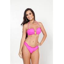 Biquini Fio Dental Gg Ripple Sexy Rosa Moda Praia Verão