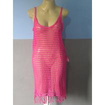 Vestido Saída De Praia De Crochê Várias Cores Promoção Top