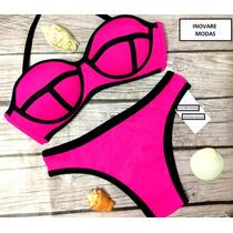 Biquini 3d Neopreme Geometrico, Modelo Victoria Secret Verão