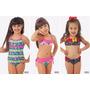 Maiô Biquini Infantil Barbie Praia Piscina Frozen Tamanho 6