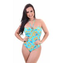Maiô Feminino Com Bojo Em Lycra Estampado Moda Praia