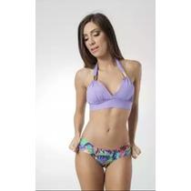 Biquini Bikini Top Com Bojo Lilás Tam. Gg