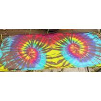 Canga De Praia Saída De Banho Tie Dye Colorida Groovy Arte