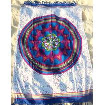 Canga Indiana Mandala Energia - Branca E Azul