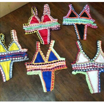 Biquini Croche Revenda Maio Kit Praia Roupas Cropped Cangas