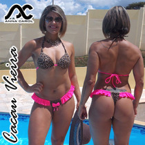 Bikini Fio Dental Anna Carol Panicats Cor-16 Busto Com Bojo