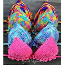 Biquíni Crochê Com Bojo Promoção Pronta Entrega Crochet