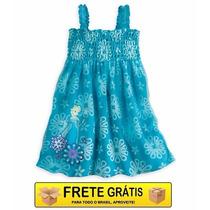 Vestido Saida De Praia Piscina Frozen Fever Disney Store 7/8