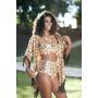 Kimono Com Top E Calcinha Hotpant - Foto Real Do Produto