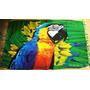 Canga De Praia Tropical Animais Papagaio Arara Tucano Várias
