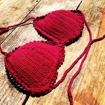 Biquíni De Croche Top Com Bojo - Escolha Sua Cor
