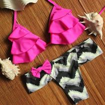 Biquíni Bikinis Biquines Panicats,babados,franjas.verão