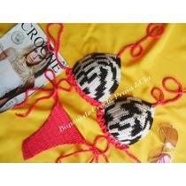 Biquíni De Crochê(calcinha Cavada E Fio) Pronta Entrega