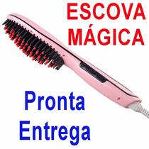 Escova De Cabelos Elétrica Mágica Lcd 230c Fast Magic Hair