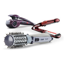 Hair Styler + Escova Rotating Air Brush + I. Steamer - 110v