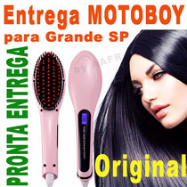 Escova Chapinha Mágica Alisadora De Cabelos Magic Hair Lcd