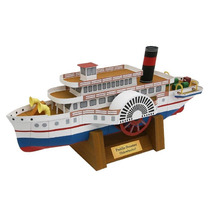 Papel Modelismo 3d - Navios Do Mundo - Paddle Steamer