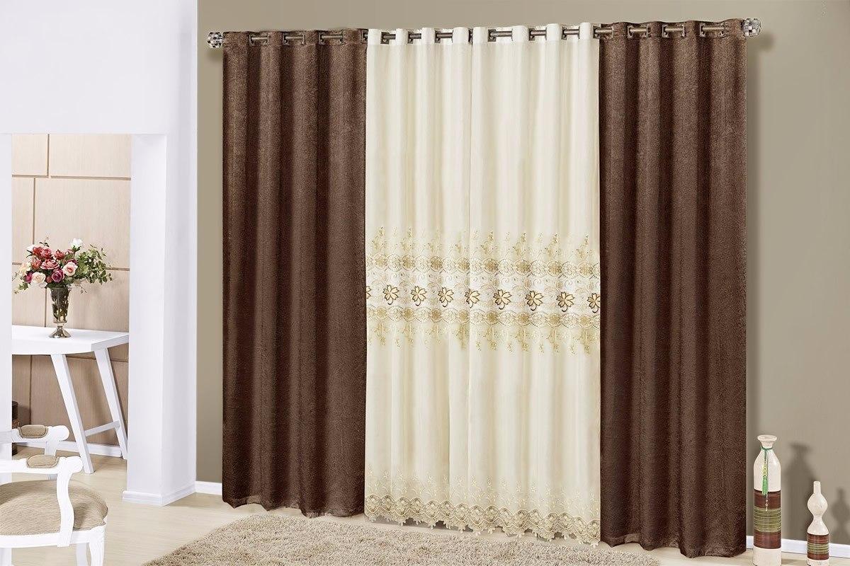 Modelo de cortina para sala ou quarto fl rida 15071 r for Ver modelos de cortinas