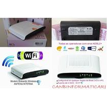 Modem Roteador Wifi Kit Velox Gvt Technicolor Td5136 Adsl2+