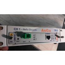 Conversor De Mídia Asga Cmeth Ch1 Rede Lan Optico Usado
