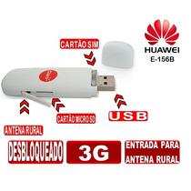 Modem Huawei E156b E156 3g Antena Rural Externa Desbloquead