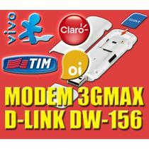 Modem 3g Dlink Dw156 - Desbloqueado, Função Pen Drive Sd