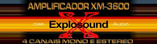Módulo Amplificador Explosound Xm 3600 - 4 Canais 1400w Rms