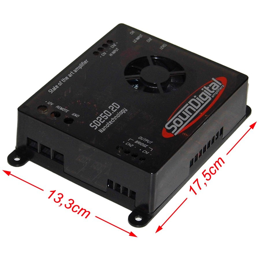 Mdulo Amplificador Soundigital SD25D 2x 125W RMS ohms