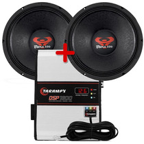 Kit 2 Woofer Ultravox12 550 Wrms + Modulo Dsp 1600 W Taramps