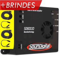 Amplificador Soundigital Sd 600 1 Canal Sd600 700w + Brindes