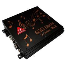 Amplificador Rca Alfa Amps 3 Canais 600w Rms.
