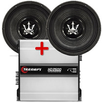 Kit 2 Woofer Magnum 12 1000 Wrms + Taramps Hd 2500 W