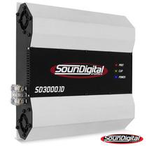 Módulo Amplificador Soundigital Sd3000 Jfa+cabo Frete Grátis