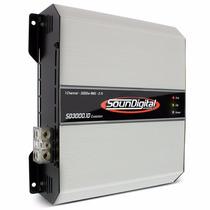 Amplificador Soundigital Sd3000.1d Sd 3000w Rms Auto Som Rca
