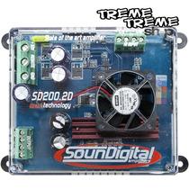 Modulo Amplificador Sd Soundigital 200 Rms 2 Canais + Frete