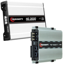 Kit Duo Taramps Dig. Hd 3000w Rms 2 Ohms + Ts-400x4 400w Rms