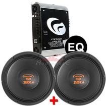 Amplificador Stetsom 1k6 Eq + 2 Alto Falantes Triton 12 700w