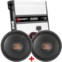 Kit Módulo Taramps Hd-2500+2 Alto Falantes Woofer Triton 700