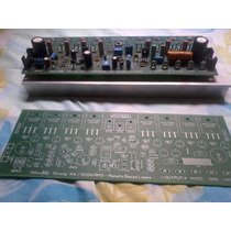 Placa Montada Amplificador + Dissipador+placa Lisa
