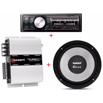 Kit Amp Taramps Ts-250x4 + Magnum Bass 8 Pol + Auto Radio