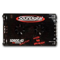 Modulo Soundigital Sd800.4d Evolution 800w Rms 4 Canais