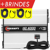 Taramps Hd 4000 Rms Amplificador Hd4000 + Brindes Cabos Rca