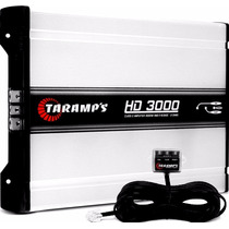 Amplificador Taramps Hd 3000 3598w Rms 1ohms + Monitor Led